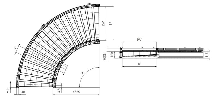 Thông số kỹ thuật băng tải con lăn IT3320 intech